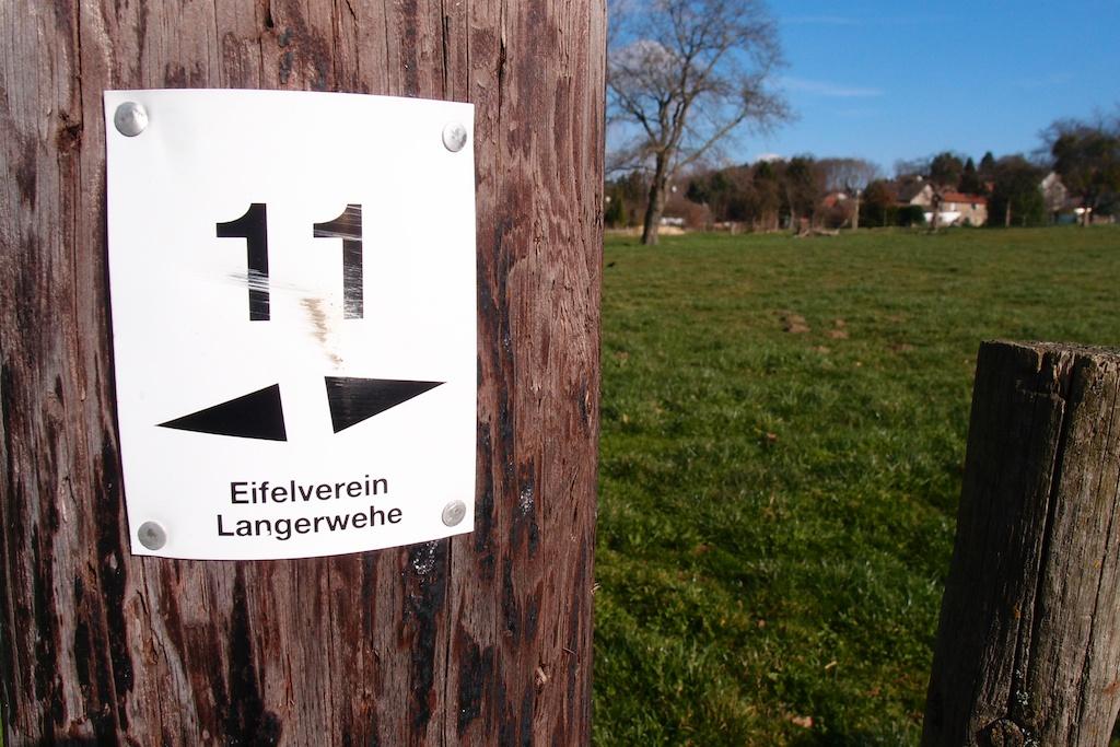 Wanderweg Nr. 11 des Eifelverein Langerwehe