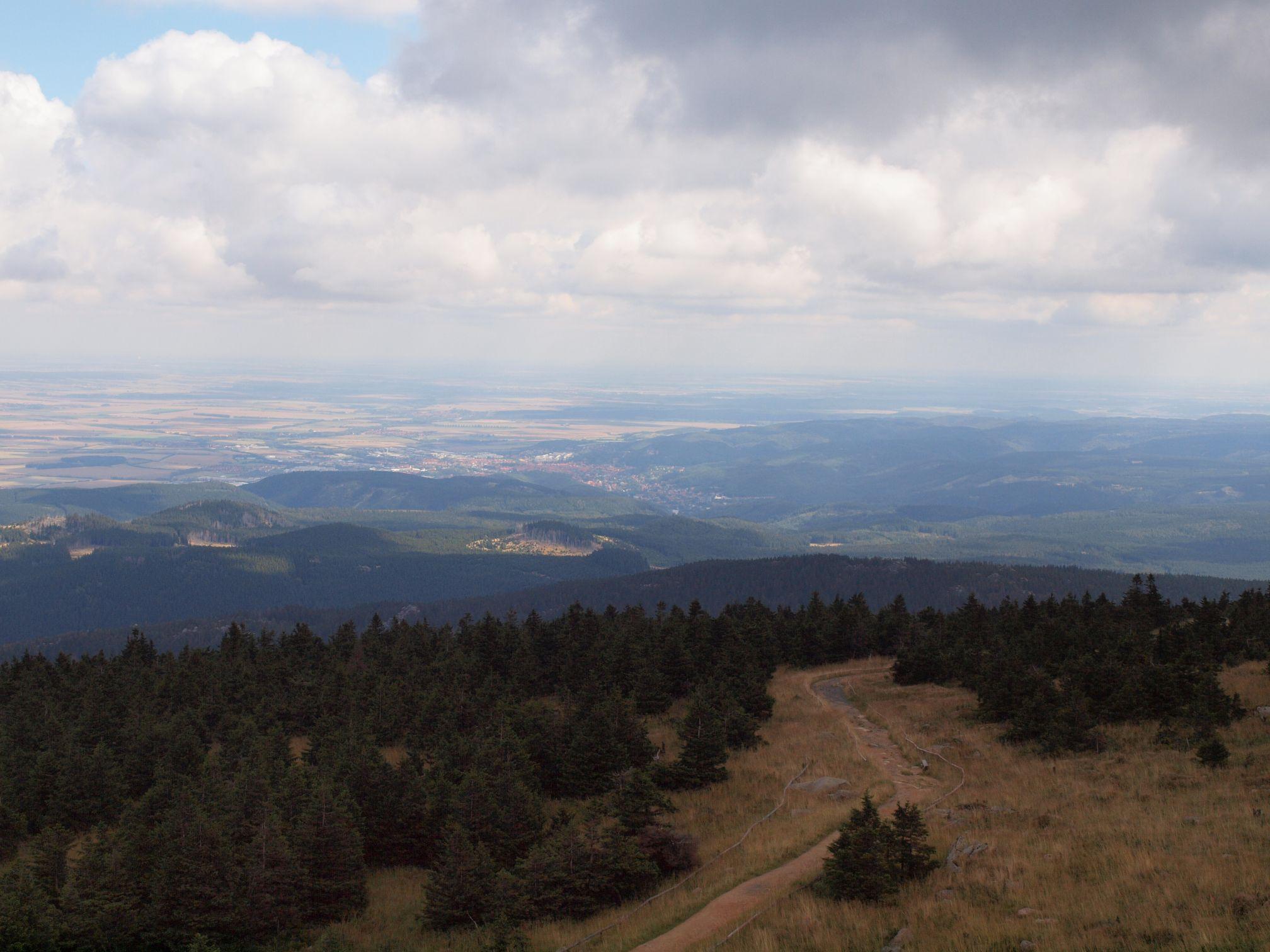 Brockenblick Richtung Wernigerode